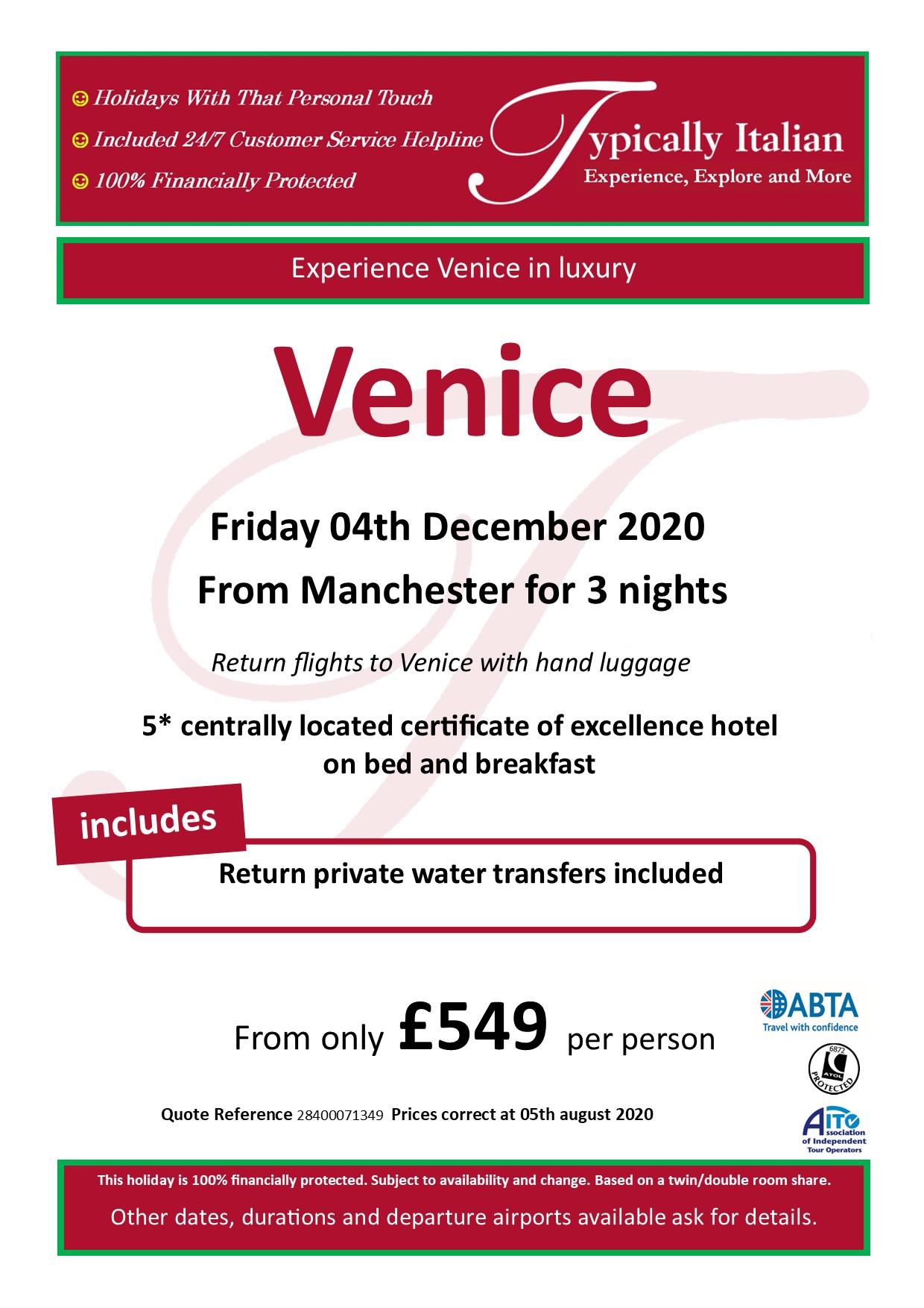 Venice December Offer