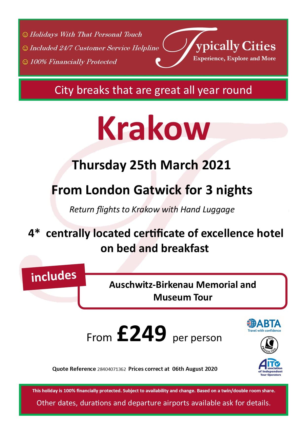 Typically Holidays Krakow Offer