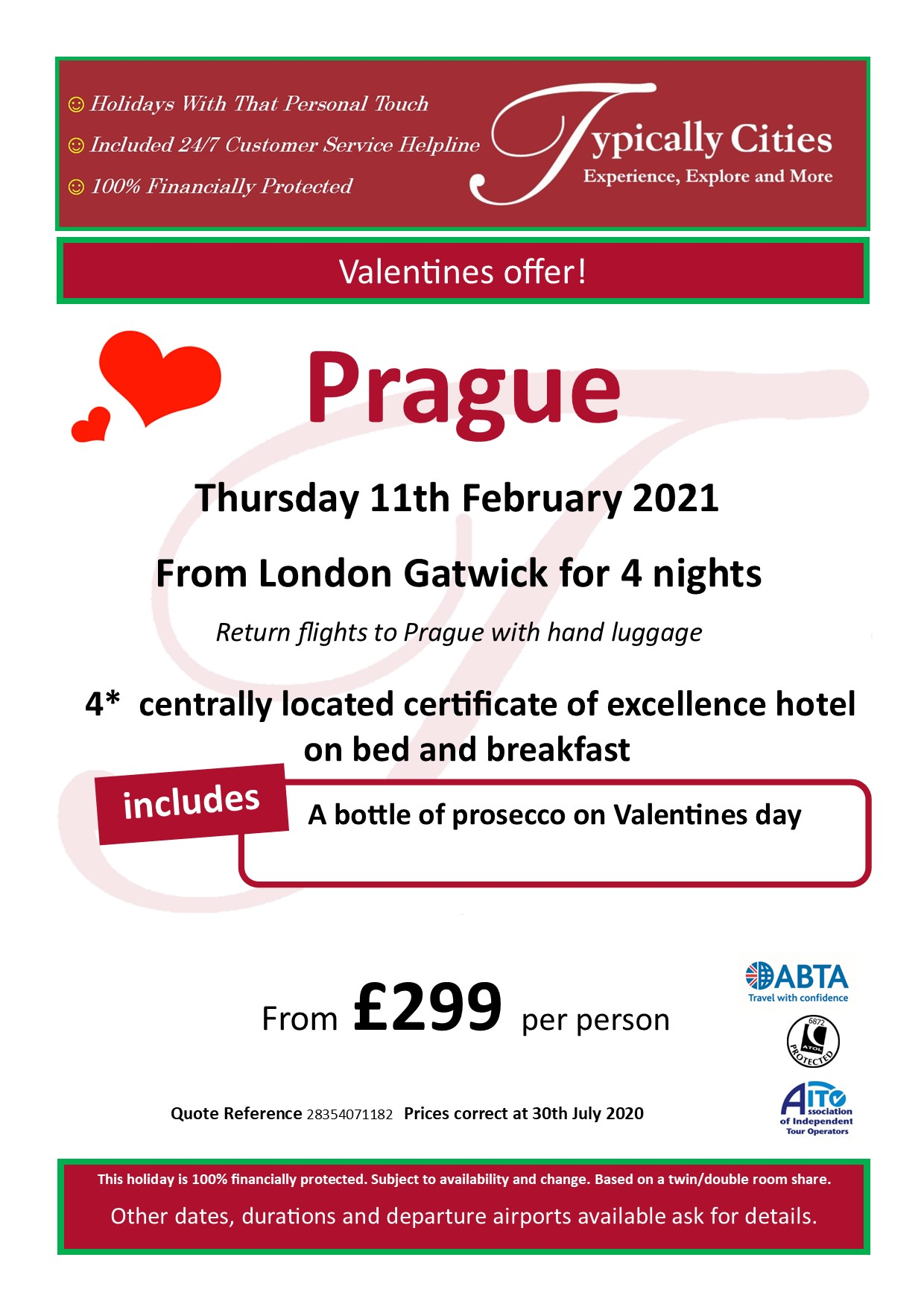 Typically Holidays Prague Offer