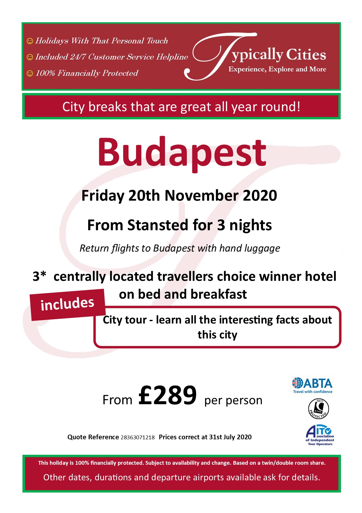 Typically Holidays Budapest Offer